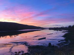 Kaleidoscope Sunset, River Suir